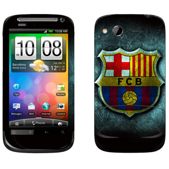 Виниловая наклейка «Barcelona fog» на телефон HTC Desire S