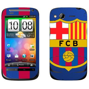 Виниловая наклейка «Barcelona Logo» на телефон HTC Desire S