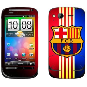 Виниловая наклейка «Barcelona stripes» на телефон HTC Desire S