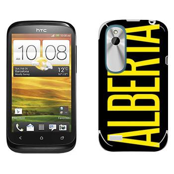 Виниловая наклейка «Alberta» на телефон HTC Desire X