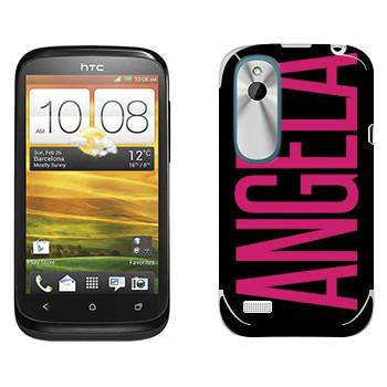 Виниловая наклейка «Angela» на телефон HTC Desire X