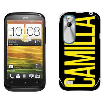 Виниловая наклейка «Camilla» на телефон HTC Desire X