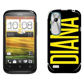 Виниловая наклейка «Diana» на телефон HTC Desire X