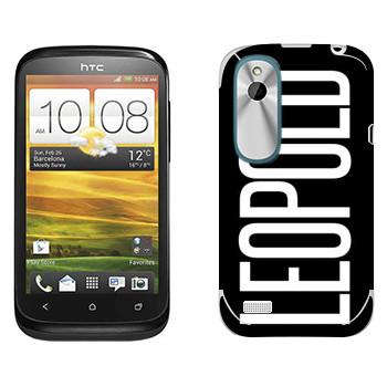 Виниловая наклейка «Leopold» на телефон HTC Desire X