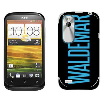 Виниловая наклейка «Waldemar» на телефон HTC Desire X