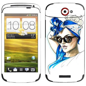 Виниловая наклейка «Знаменитость» на телефон HTC One S
