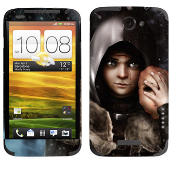 Виниловая наклейка «Бран Старк» на телефон HTC One X