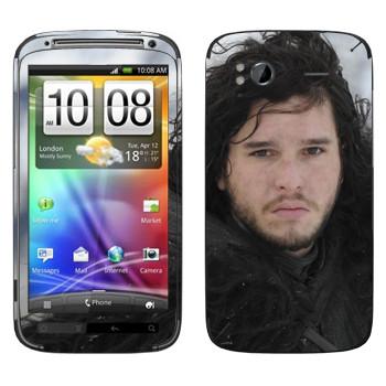 Виниловая наклейка «Джон Сноу в Ночном дозоре» на телефон HTC Sensation