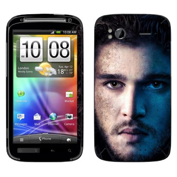 Виниловая наклейка «Джон Сноу» на телефон HTC Sensation