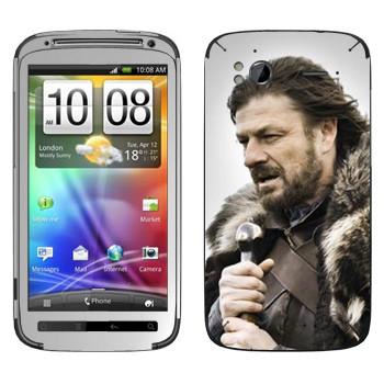 Виниловая наклейка «Эддард Старк» на телефон HTC Sensation
