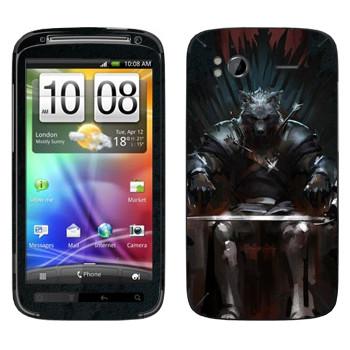 Виниловая наклейка «Игра престолов Железный Трон» на телефон HTC Sensation