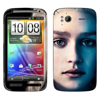 Виниловая наклейка «Королева Дейенерис Таргариен» на телефон HTC Sensation