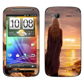 Виниловая наклейка «Королева Дейенерис» на телефон HTC Sensation