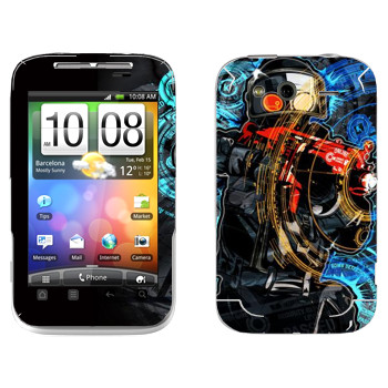 Виниловая наклейка «Антитеррор» на телефон HTC Wildfire S