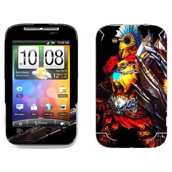 Виниловая наклейка «Ares : Smite Gods» на телефон HTC Wildfire S
