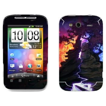 Виниловая наклейка «Dota деревья» на телефон HTC Wildfire S