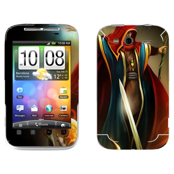 Виниловая наклейка «Drakensang disciple» на телефон HTC Wildfire S