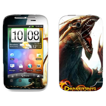 Виниловая наклейка «Drakensang dragon» на телефон HTC Wildfire S