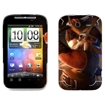 Виниловая наклейка «Drakensang gnome» на телефон HTC Wildfire S