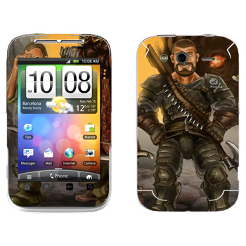 Виниловая наклейка «Drakensang pirate» на телефон HTC Wildfire S