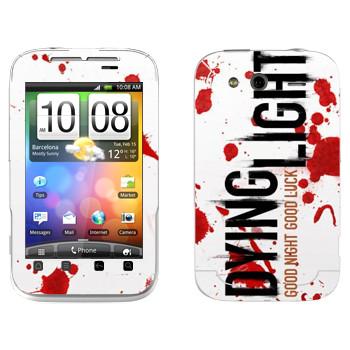Виниловая наклейка «Dying Light  - кровь» на телефон HTC Wildfire S