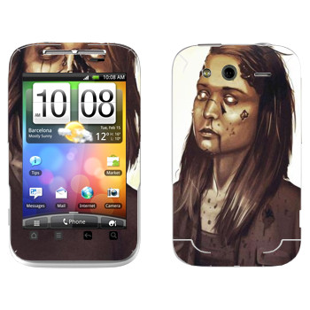 Виниловая наклейка «Dying Light - девочка зомби» на телефон HTC Wildfire S