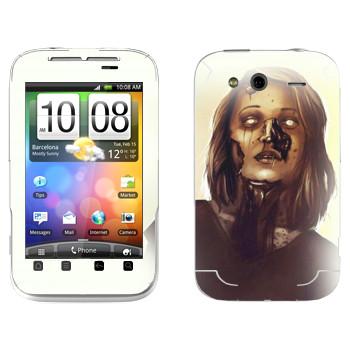 Виниловая наклейка «Dying Light - мама зомби» на телефон HTC Wildfire S