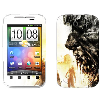 Виниловая наклейка «Dying Light арт» на телефон HTC Wildfire S