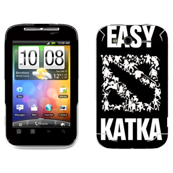 Виниловая наклейка «Easy Katka белый» на телефон HTC Wildfire S