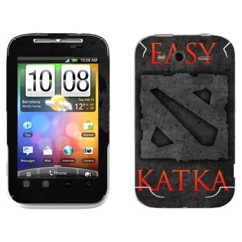 Виниловая наклейка «Easy Katka черный» на телефон HTC Wildfire S