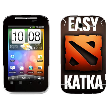 Виниловая наклейка «Easy Katka красный» на телефон HTC Wildfire S