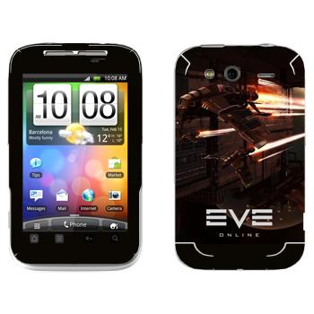 Виниловая наклейка «EVE армада красный» на телефон HTC Wildfire S