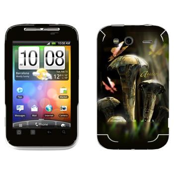 Виниловая наклейка «EVE Аватар» на телефон HTC Wildfire S