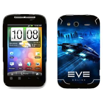 Виниловая наклейка «EVE космический корабль» на телефон HTC Wildfire S