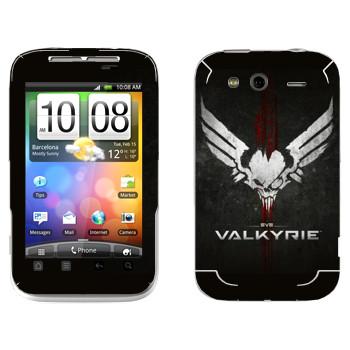 Виниловая наклейка «EVE Валькирия» на телефон HTC Wildfire S