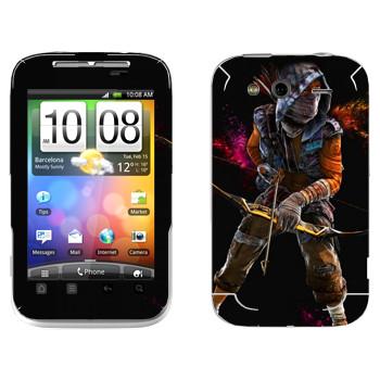 Виниловая наклейка «Far Cry 4 - лучник» на телефон HTC Wildfire S