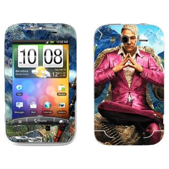 Виниловая наклейка «Far Cry 4 - Пэйган Мин» на телефон HTC Wildfire S