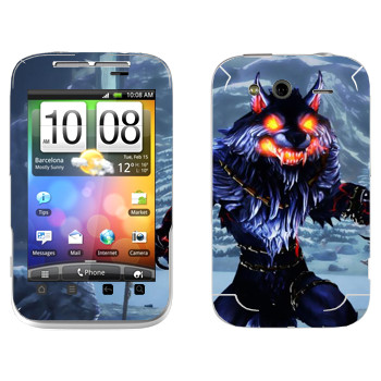 Виниловая наклейка «Fenrir : Smite Gods» на телефон HTC Wildfire S