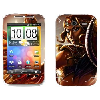 Виниловая наклейка «Isis : Smite Gods» на телефон HTC Wildfire S