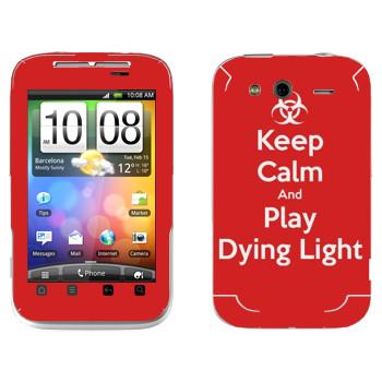 Виниловая наклейка «Keep calm and Play Dying Light» на телефон HTC Wildfire S