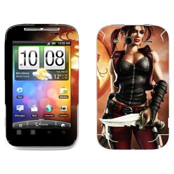 Виниловая наклейка «Кира - Mortal Kombat» на телефон HTC Wildfire S