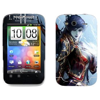 Виниловая наклейка «Lineage Темный эльф» на телефон HTC Wildfire S