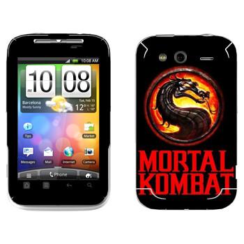 Виниловая наклейка «Mortal Kombat игра» на телефон HTC Wildfire S