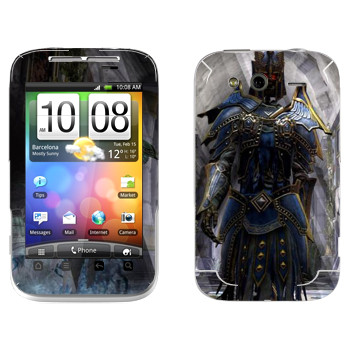 Виниловая наклейка «Neverwinter Armor» на телефон HTC Wildfire S