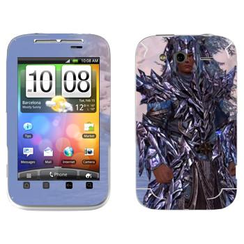 Виниловая наклейка «Neverwinter Человек» на телефон HTC Wildfire S