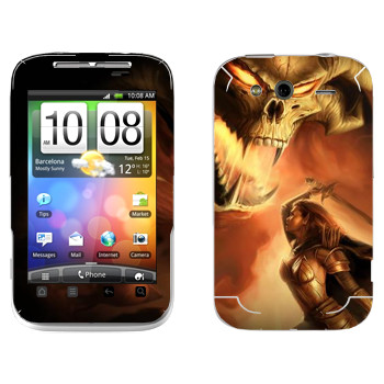 Виниловая наклейка «Neverwinter Дьявол» на телефон HTC Wildfire S