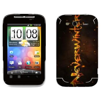 Виниловая наклейка «Neverwinter Игра» на телефон HTC Wildfire S