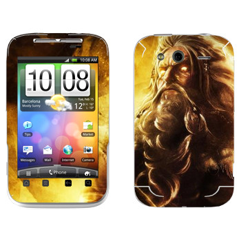 Виниловая наклейка «Odin : Smite Gods» на телефон HTC Wildfire S