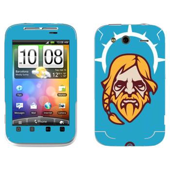 Виниловая наклейка «Одинокий Друид» на телефон HTC Wildfire S