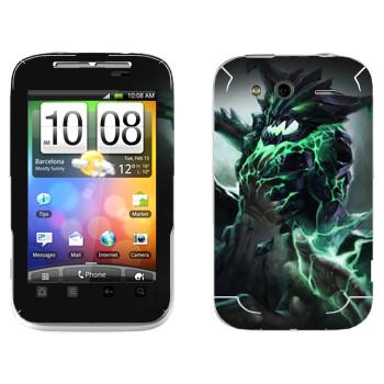 Виниловая наклейка «Outworld - Dota 2» на телефон HTC Wildfire S